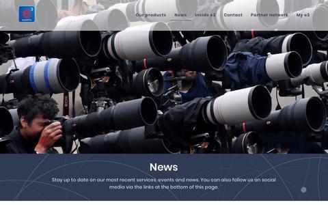 Screenshot of Press Page e3s.com - News | e3 Systems - captured Sept. 30, 2018