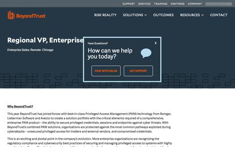 Screenshot of Jobs Page beyondtrust.com - BeyondTrust - captured Dec. 29, 2018