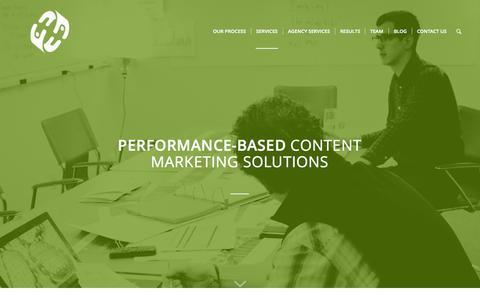 Screenshot of Services Page socialmediacontractors.com - Services - SMC - captured Nov. 23, 2015