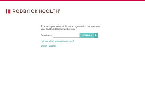 Log in to RedBrick Health