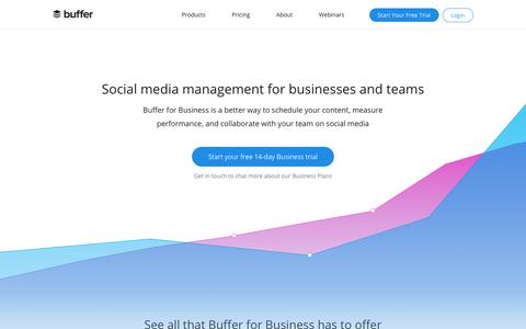 Screenshot of buffer.com - Social Media Management for Businesses | Buffer for Business - captured Sept. 13, 2017