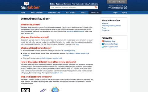 About Us | SiteJabber