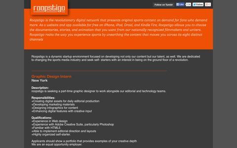Screenshot of Jobs Page roopstigo.com - Careers - roopstigo - captured Oct. 9, 2014