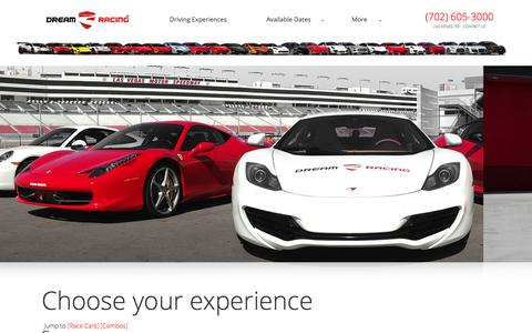 Screenshot of Pricing Page dreamracing.com - The Experiences -� Dream Racing - captured Jan. 7, 2016