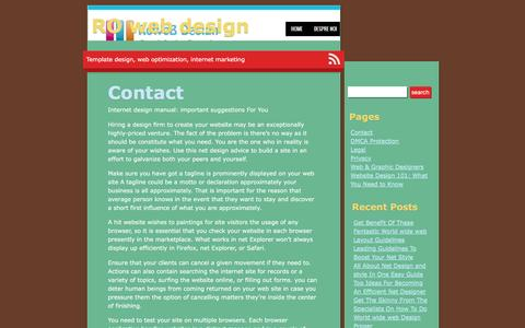 Contact | RO web design