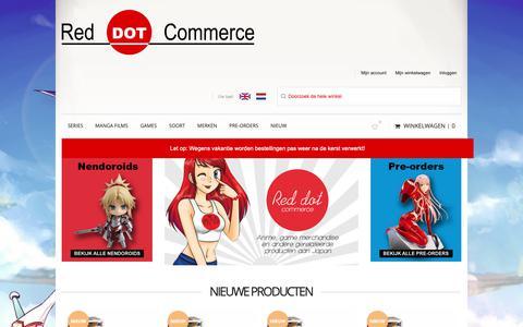 Screenshot of Home Page reddotcommerce.nl - Red Dot Commerce - anime pvc figuren en merchandise - captured Dec. 11, 2018