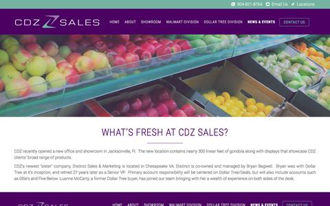 Screenshot of Press Page cdzsalesjax.com - What's fresh at CDZ Sales?   CDZ Sales - captured Oct. 6, 2016