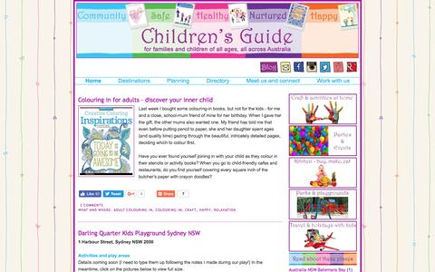Screenshot of Blog childrensguide.com.au - Children's Guide Blog - captured May 16, 2017