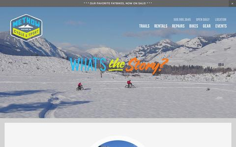 Screenshot of About Page methowcyclesport.com - About — Methow Cycle & Sport  |  Winthrop Twisp Mazama | Mountain Biking | Road Cycling | Fatbiking | Sales Service Rentals - captured Jan. 29, 2017