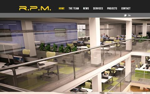 Screenshot of Home Page realpm.co.uk - RPM - captured Oct. 7, 2014
