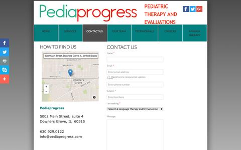Screenshot of Privacy Page Contact Page pediaprogress.com - Contact Us - captured May 15, 2017
