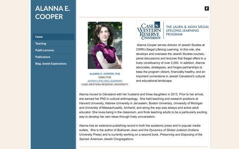 Screenshot of Home Page kikayon.com - ALANNA E. COOPER - Page Title - captured Oct. 22, 2018