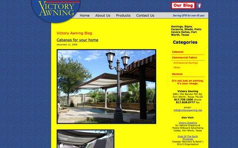 Screenshot of Blog victoryawning.net - Victory Awning | Just another WordPress weblog - captured Oct. 7, 2014