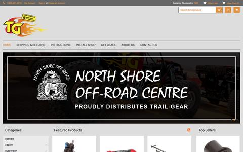 Screenshot of Home Page trail-gear.ca - Offroad Parts & Accessories: Trail Gear Canada - captured Jan. 10, 2017