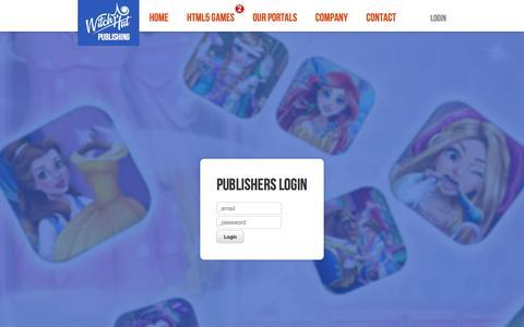 Screenshot of Login Page witchhut.com captured Sept. 23, 2018