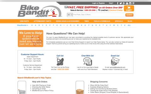 BikeBandit.com Help and Customer Service