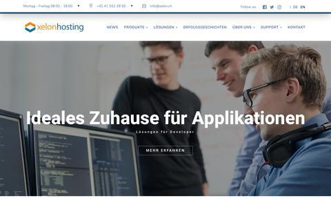 Screenshot of Developers Page xelon.ch - Für Developer - Xelon Hosting - captured Nov. 12, 2018