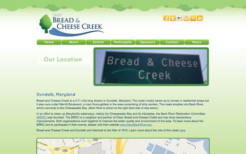 Screenshot of Maps & Directions Page breadandcheesecreek.org - Clean Bread and Cheese Creek - captured Oct. 2, 2014