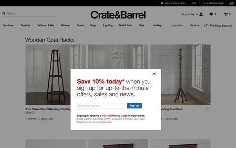 Wooden Coat Racks   Crate and Barrel