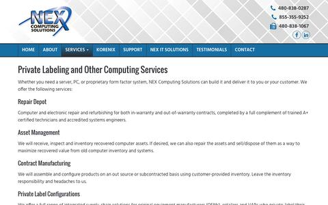 Screenshot of Services Page nexedge.com - System Integration Services   Chandler   Phoenix AZ - captured Nov. 30, 2016