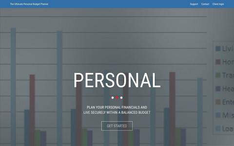 Screenshot of Home Page personal-budget-planner.com - Personal Budget Planner - captured March 3, 2016