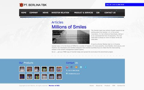 Screenshot of Team Page berlina.co.id - Berlina - captured Oct. 1, 2014