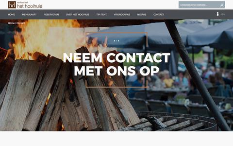 Screenshot of Contact Page hooihuis.nl - Neem contact met ons op | Het Hooihuis - captured Oct. 22, 2017