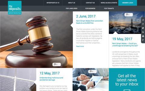 Screenshot of Blog mydeposits.co.uk - Blog | MyDeposits.co.uk - captured June 14, 2017