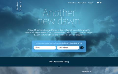 Screenshot of Home Page energybonds.co.uk - Energy Bonds - Brighter Investing - captured Sept. 30, 2014