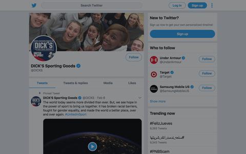 Tweets by DICK'S Sporting Goods (@DICKS) – Twitter