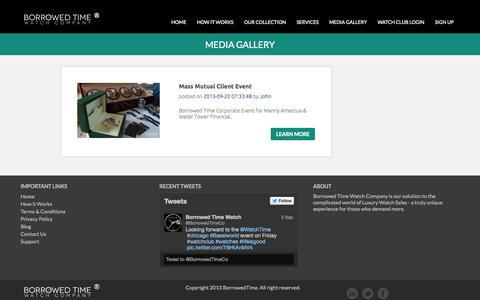 Screenshot of Blog borrowedtimewatches.com - Borrowed Time Watches - captured Oct. 5, 2014