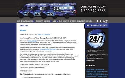 Screenshot of Blog drymeout.com - 1-800-Dry-Me-Out Water Damage Blog | Tampa, FL Water Damage Experts - captured Oct. 4, 2014