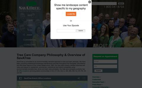 Screenshot of About Page savatree.com - Environmentally Sensible Approach to Tree & Lawn Care - captured July 27, 2018