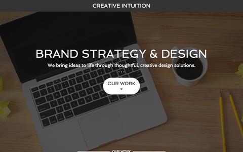 Screenshot of Home Page cistudio.com - Creative Intuition – Creative Intuition - captured Jan. 23, 2015