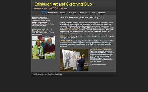 Screenshot of Home Page edinburgh-sketching-club.com - Welcome to Edinburgh Art and Sketching Club | Edinburgh Art and Sketching Club - captured Sept. 1, 2015