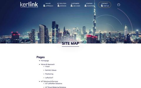 Screenshot of Site Map Page kerlink.com - Site Map - Kerlink - captured Oct. 16, 2017