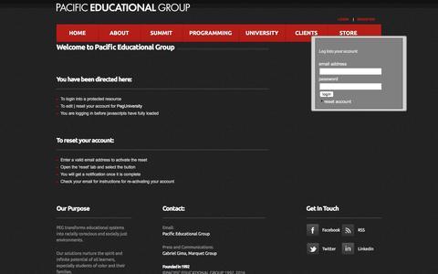 Screenshot of Login Page pacificeducationalgroup.com - Login: PacificEducationalGroup: - captured Oct. 17, 2016