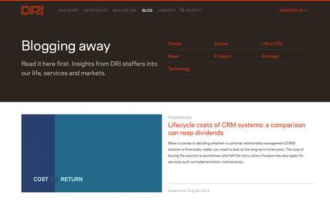 Screenshot of Blog dri-global.com - Blog | DRI - captured Oct. 1, 2014