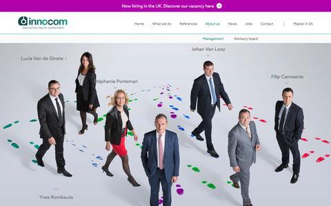 Screenshot of Team Page inno.com - Management - inno.com - captured Nov. 26, 2016