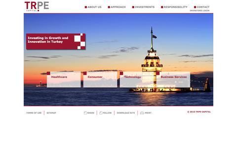 Screenshot of Home Page trpecapital.com - TRPE Capital - captured Oct. 9, 2014