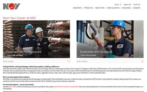 Screenshot of Jobs Page nov.com - National Oilwell Varco - captured Oct. 30, 2015