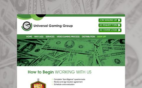 Screenshot of Signup Page ugaminggroup.com - Sign Up! - Universal Gaming Group | Chicago, ILUniversal Gaming Group | Chicago, IL - captured Oct. 26, 2014