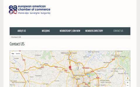 Screenshot of Contact Page eacc-ra.com - Contact US - captured Jan. 31, 2016