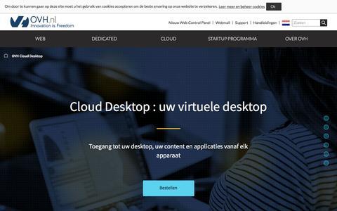 Screenshot of Case Studies Page ovh.nl - Cloud Desktop | uw turnkey virtual desktop oplossing- OVH - captured Aug. 28, 2016