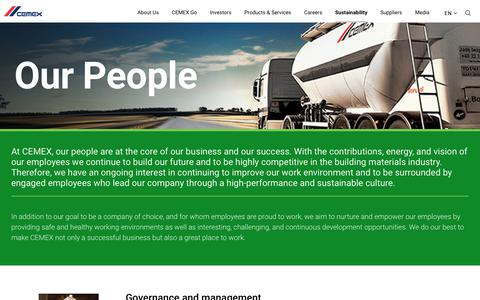 Screenshot of Team Page cemex.com - Our People - CEMEX - captured Sept. 12, 2018
