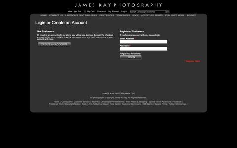 Screenshot of Login Page jameskay.com - Customer Login - captured Feb. 11, 2016