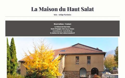 Screenshot of Home Page maisonduhautsalat.com - La Maison du Haut Salat - captured June 2, 2016