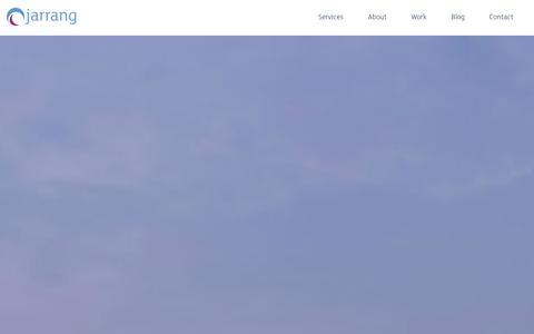 Screenshot of Home Page jarrang.com - Digital Marketing Agency - captured Jan. 9, 2016