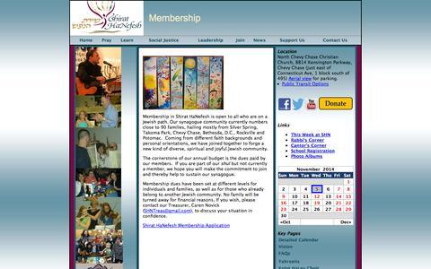 Screenshot of Signup Page shirathanefesh.org - Shirat HaNefesh: Song of the Soul   » Membership - captured Nov. 5, 2014