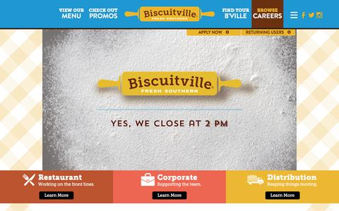 Screenshot of Jobs Page biscuitville.com - Restaurant Jobs NC & VA | Biscuitville Careers - captured Aug. 2, 2018